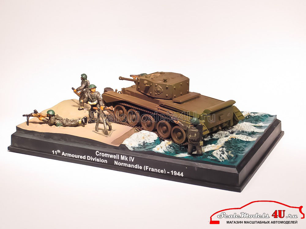 Scale model of Cromwell Mk IV D-Day Diorama - 11th Armoured