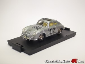 Scale model of Porsche 356 Coupe Targa Florio #102 (1952) produced by Brumm.