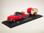 MGB Convertible Soft Top Red Trailer with figures