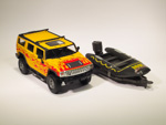 Hummer H2 Fire Flames Boat Trailer